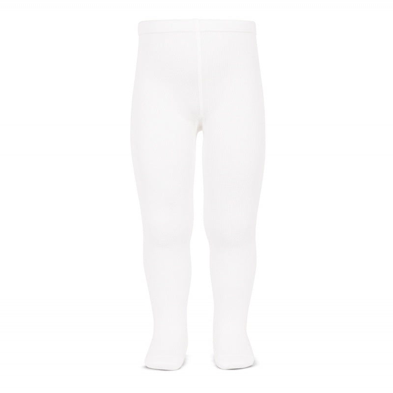 Cóndor White Plain Stitch Tights