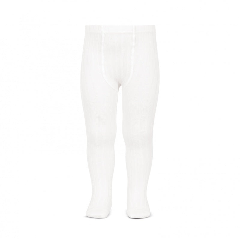 Cóndor White Wide Rib Tights