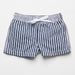 Fina Ejerique Boys White T-Shirt and Blue Striped Swim Shorts Set