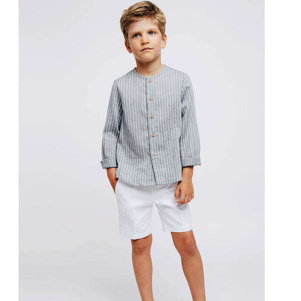 Fina Ejerique Boys White Cotton Shorts