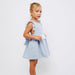 Fina Ejerique Girls Blue Cross Back Dress
