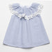 Fina Ejerique Girls Blue & White Striped Sleeveless Dress