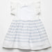 Fina Ejerique Girls White & Blue Cotton Dress