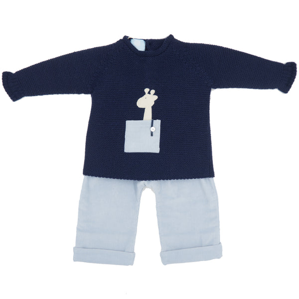 Floc Baby Boys Blue Outfit Set