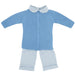 Floc Baby Boys Blue Three Piece Outfit Set