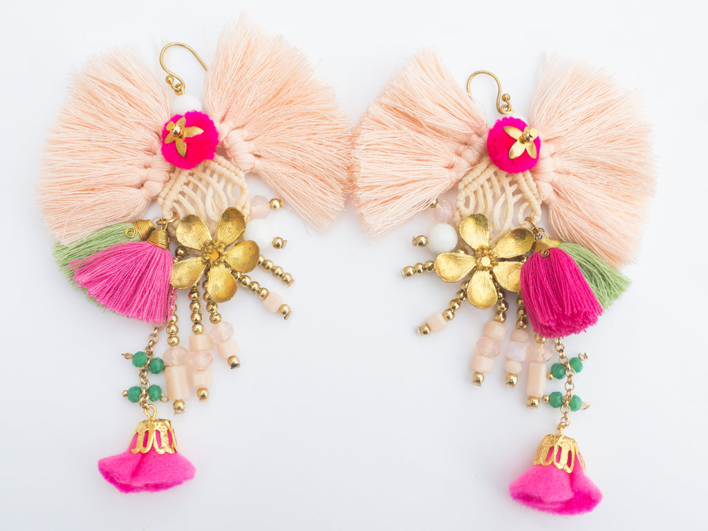 LC Tartaruga Pink Tassel Vida Earrings