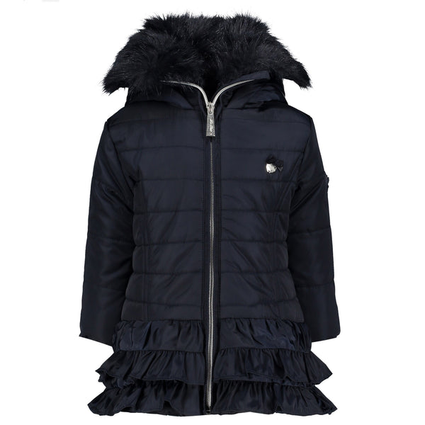 Le Chic Baby Girls Navy Blue Coat