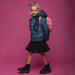 Le Chic Girls Teal Green Ruffle Coat