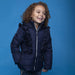 Le Chic Girls Navy Blue Ruffle Coat