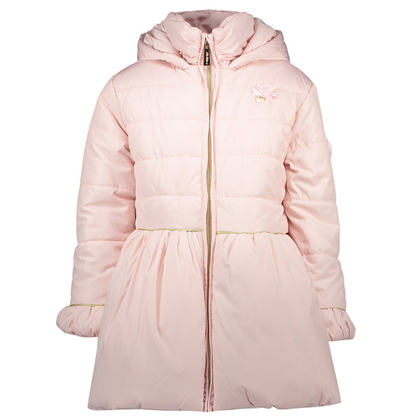 Le Chic Girls Pink Bow Coat