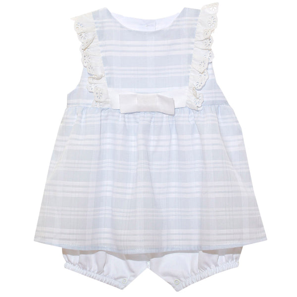 Patachou Baby Girls Blue Striped Shortie Dress