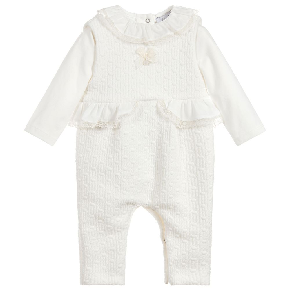 Patachou Baby Girls Ivory Romper Set