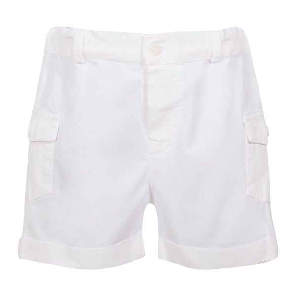 Patachou Boys White Cotton Shorts