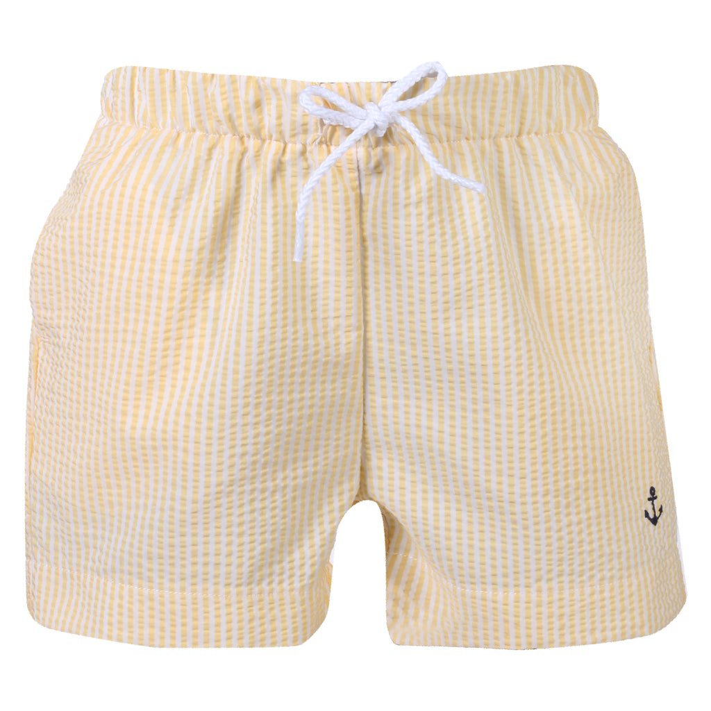 Patachou Boys Yellow Stripe Swim Shorts