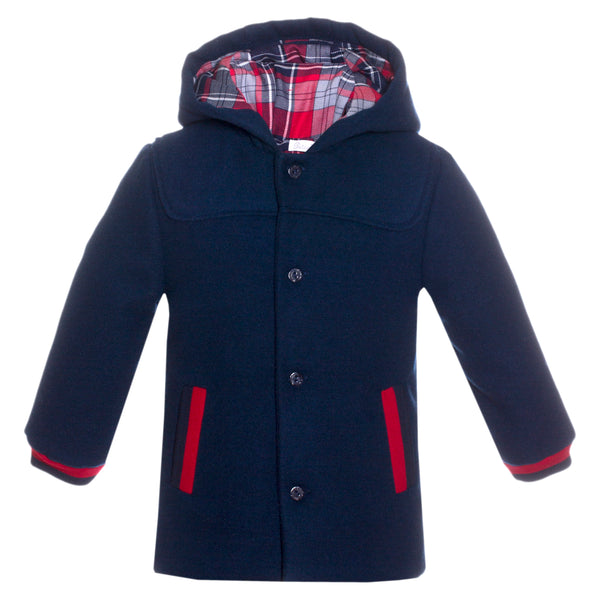 Patachou Boys Navy Blue Coat
