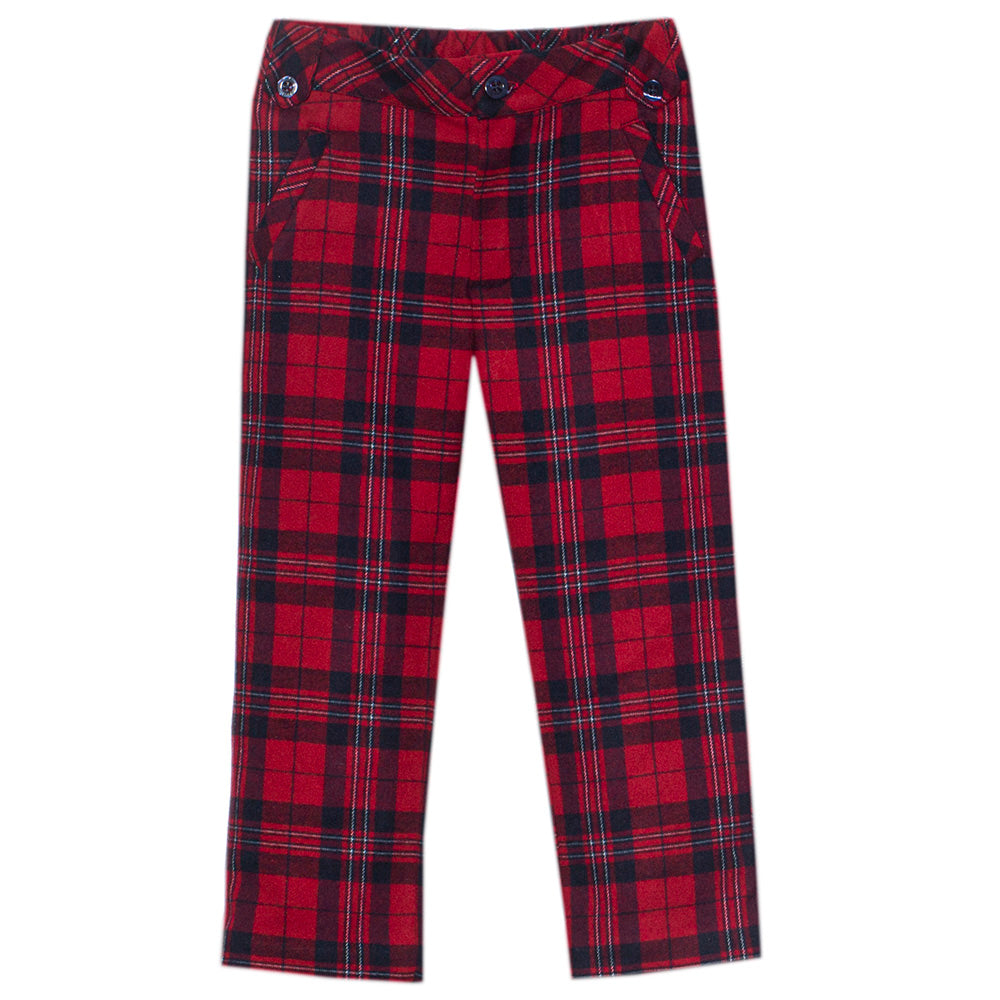 Patachou Boys Red Tartan Trousers
