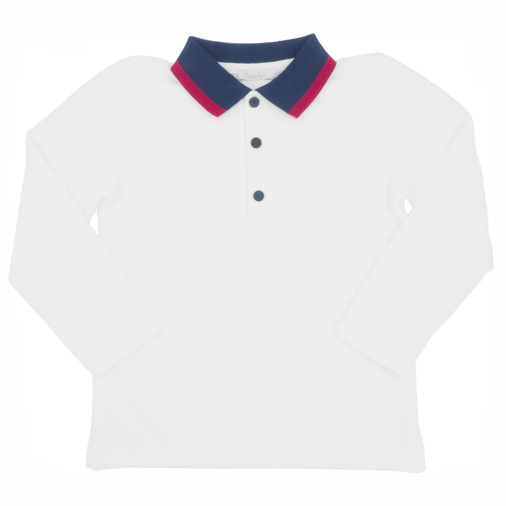 Patachou Boys White Polo Shirt