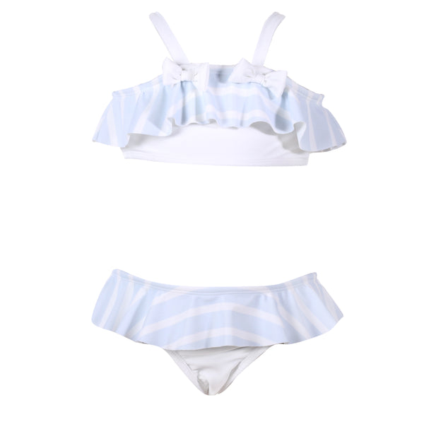 Patachou Girls Blue & White Striped Bikini