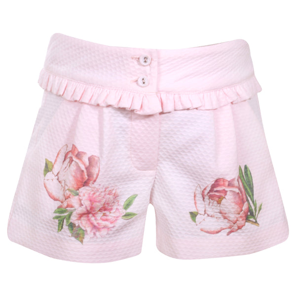 Patachou Girls Pink Floral Shorts