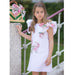 Patachou Girls Pink Floral Bow Dress