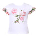 Patachou Girls White Floral Top