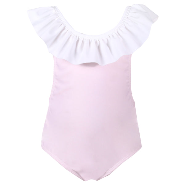Patachou Girls Pink & White Frill Swimsuit