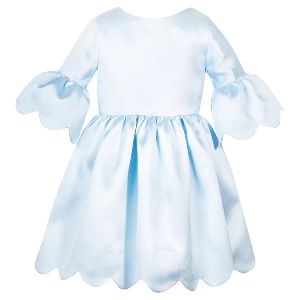 Patachou Girls Blue Satin Dress