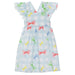 Patachou Girls Blue Cotton Check Sundress