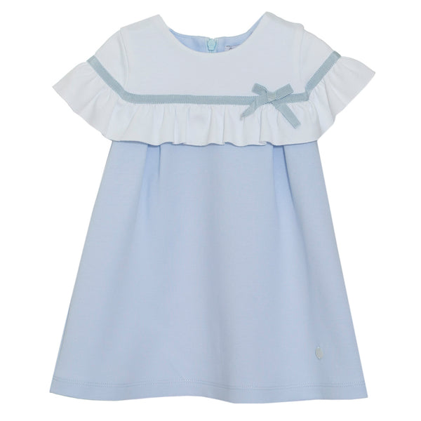 Patachou Girls Blue Cotton Jersey Dress