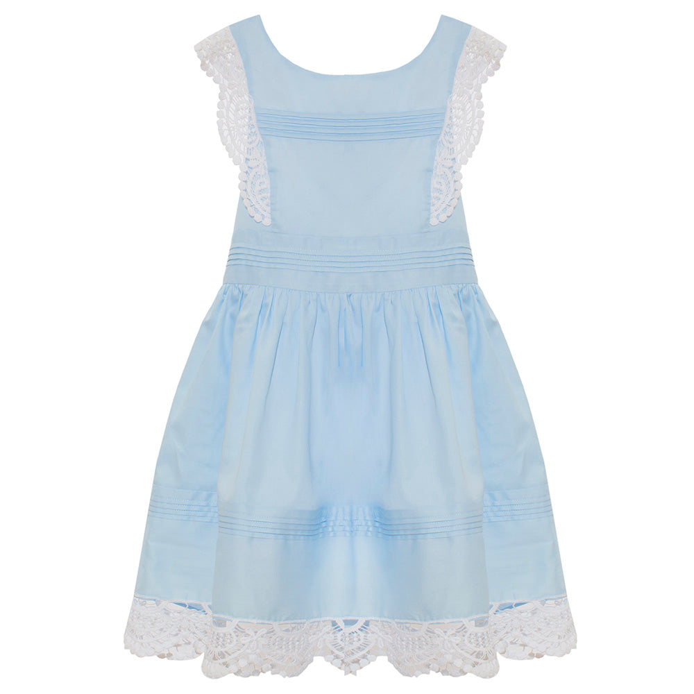 Patachou Girls Blue Cross Back Dress