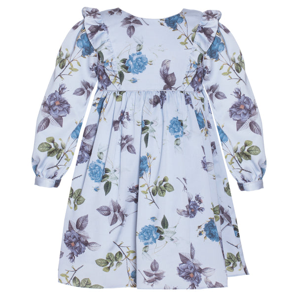 Patachou Girls Blue Floral Dress