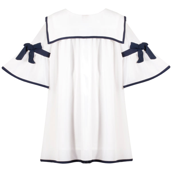 Patachou Girls Ivory Chiffon Dress