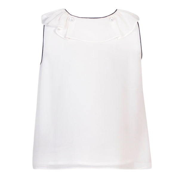 Patachou Girls Ivory Crêpe Top