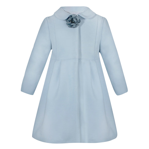 Patachou Girls Pale Blue Coat