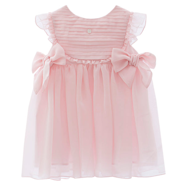 Patachou Girls Pale Pink Chiffon Dress