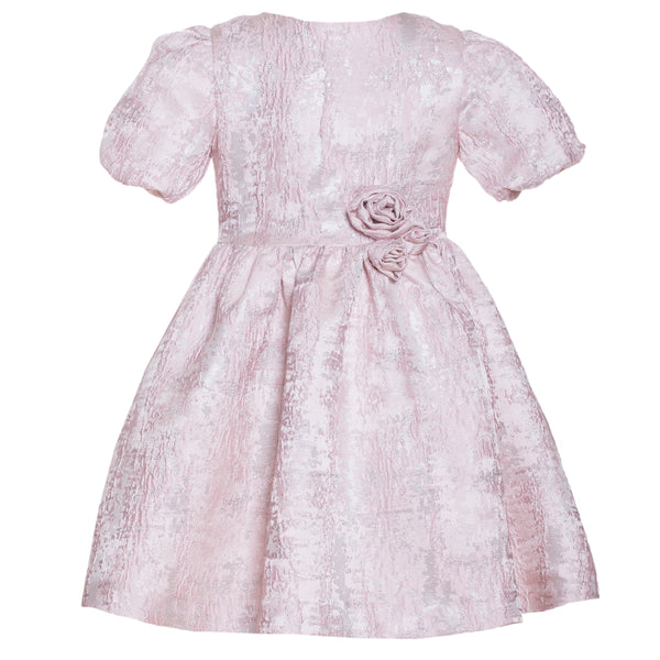Patachou Girls Pink Jacquard Dress