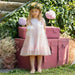 Patachou Girls Pink Spotted Tulle Dress