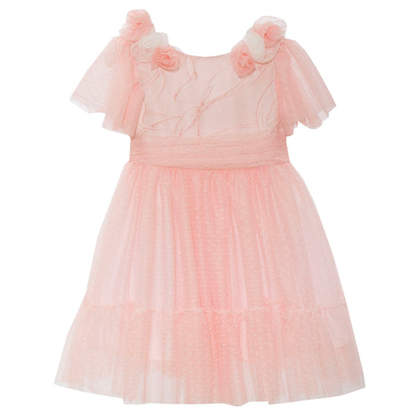 Patachou Girls Pink Tulle Dress