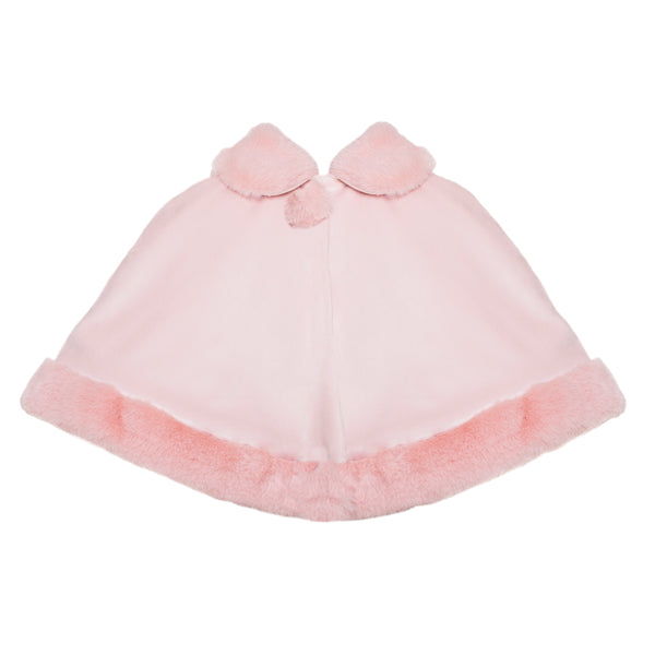 Patachou Girls Pink Velour Cape