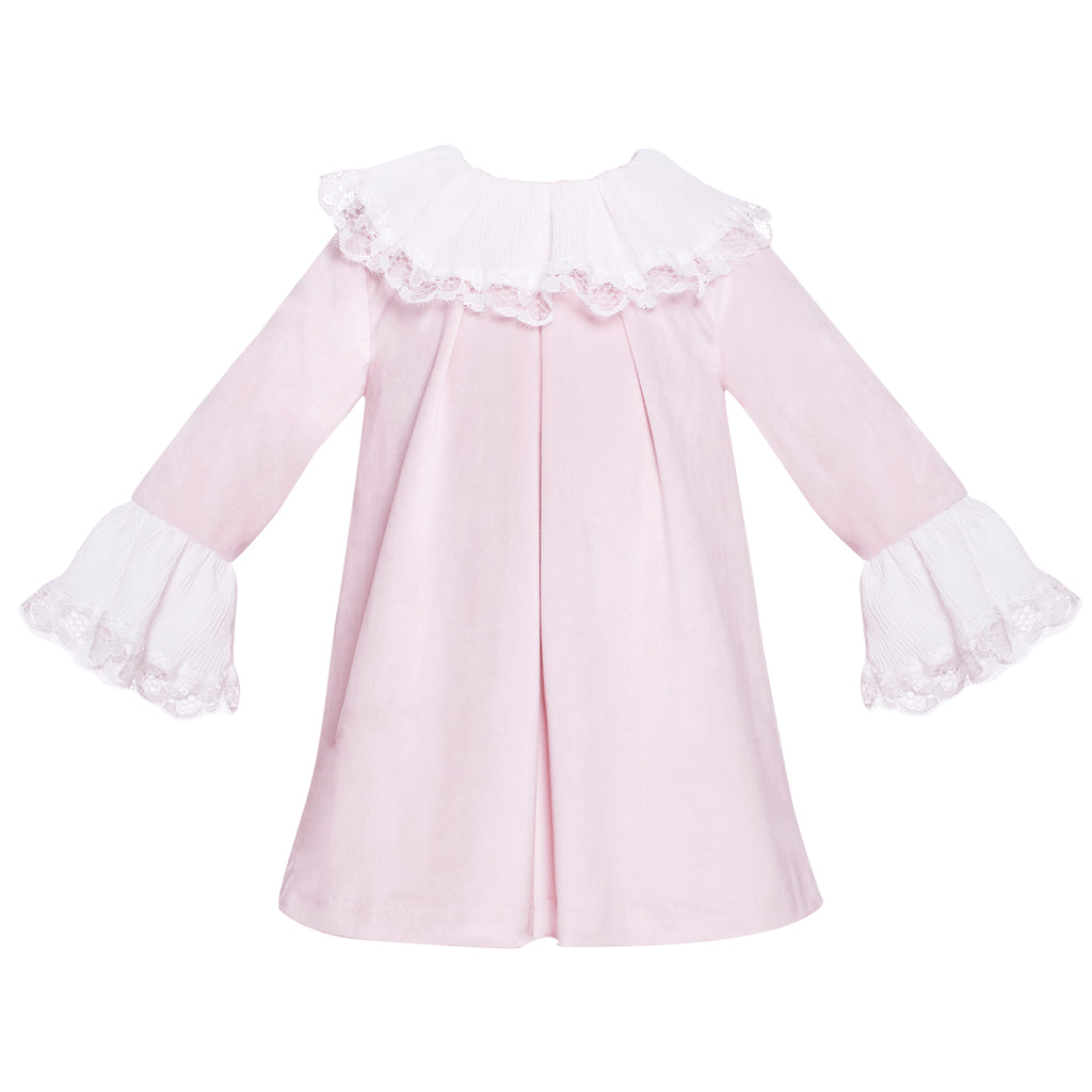 Patachou Girls Pink Velvet Dress