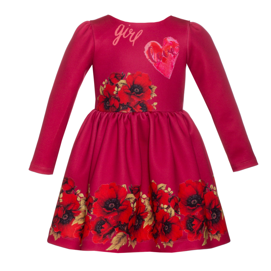 Patachou Girls Red Floral Dress