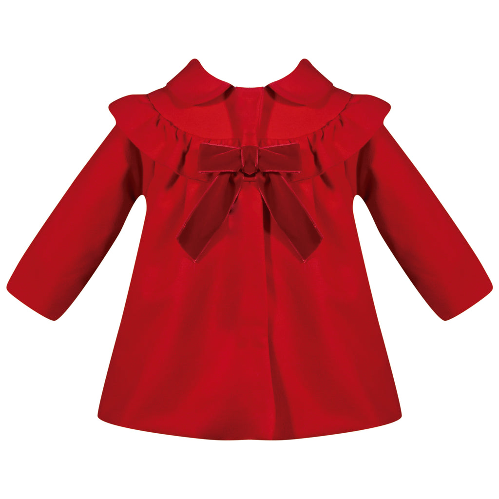 Patachou Girls Red Ruffle Coat