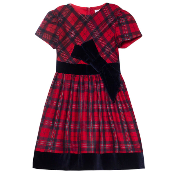 Patachou Girls Red Tartan Dress