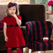 Patachou Girls Red Velvet Dress