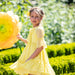 Patachou Girls Yellow Chiffon Dress