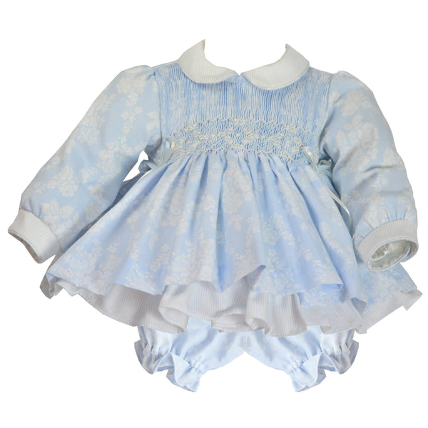 Pretty Originals Baby Girls Blue Dress Set