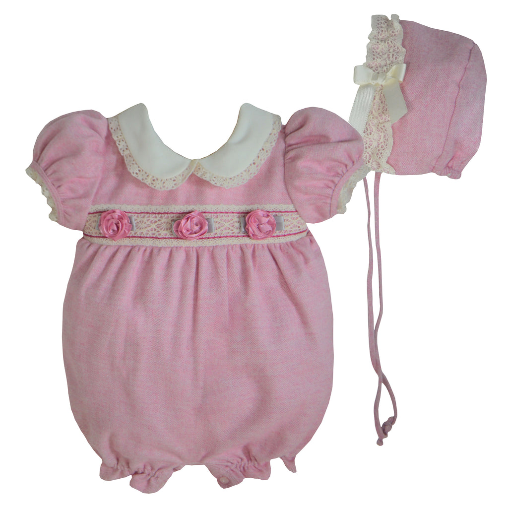 Pretty Originals Dusky Pink Cotton Shortie Set