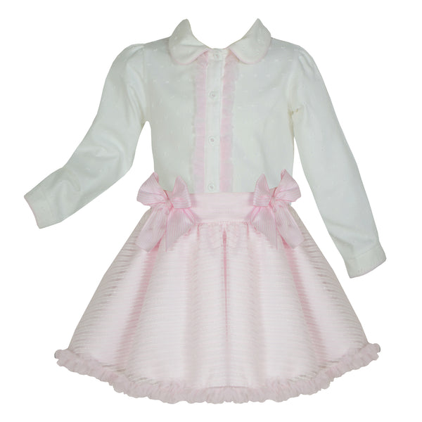 Pretty Originals Girls Blouse & Skirt Set