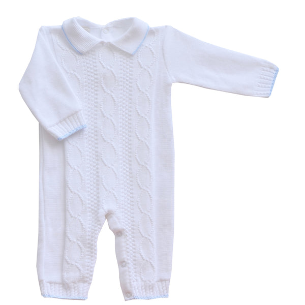 Pretty Originals White Cotton Babygrow