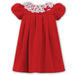 Sarah Louise Baby Girls Red Velvet Dress